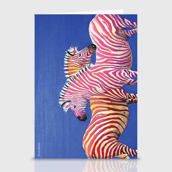 Diva Zebras - Greeting Cards