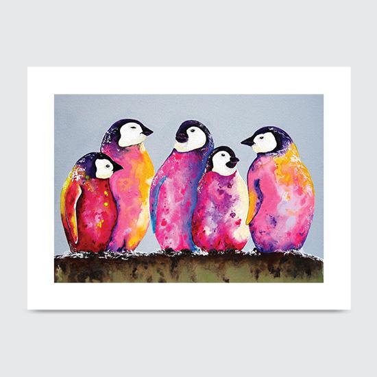 Haute Penguins - Art Print