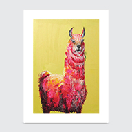 One Hot Llama - Art Print