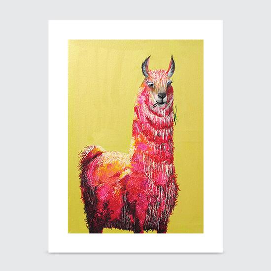 One Hot Llama - Art Print