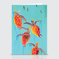 Rum Punch Turtles - Greeting Cards