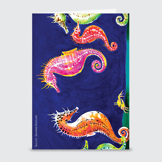 Seahorse Sparklers - Greeting Cards