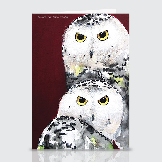 Snowy Owl Sauvignon - Greeting Cards