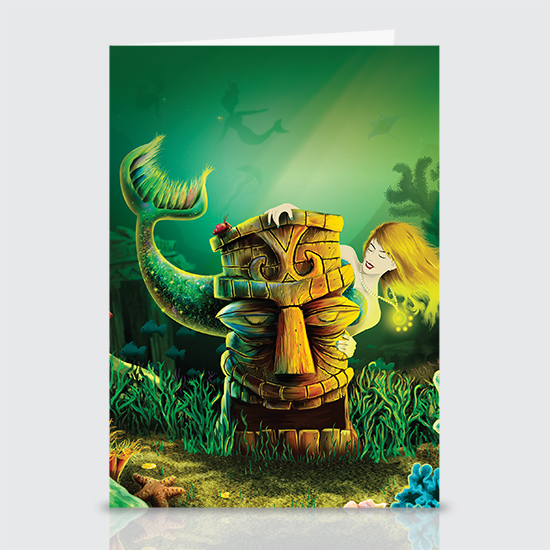Encounter At The Cove - Greeting Cards