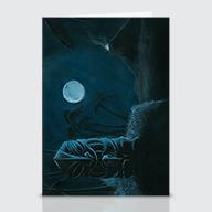 Moonlight Offering - Greeting Cards