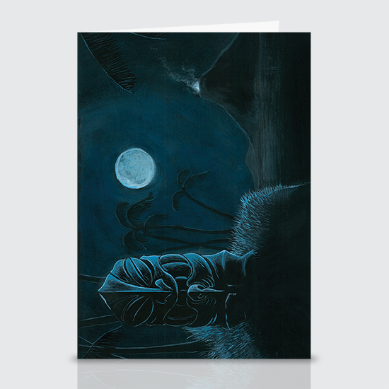 Moonlight Offering - Greeting Cards