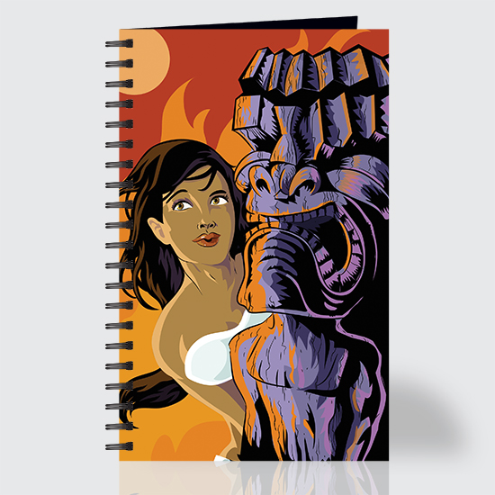 Whahine Moon And Fire - Journal - Front