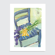 Floral and the Chair - Art Print