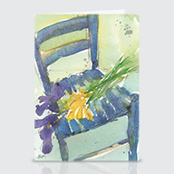 Floral and the Chair - Greeting Cards