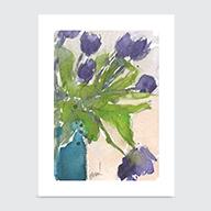 The Purple Tulips - Art Print