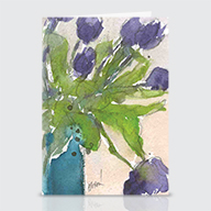 The Purple Tulips - Greeting Cards