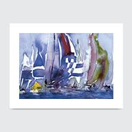 Sailing Afternoon - Art Print