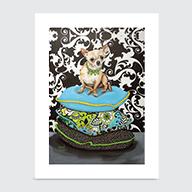 Chihuahua Pillows - Art Print