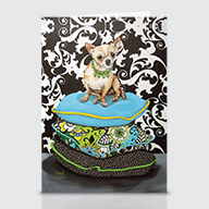 Chihuahua Pillows - Greeting Cards
