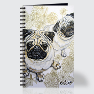Two Pugs - Journal - Front
