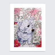 Westie Garden - Art Print
