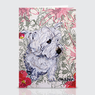 Westie Garden - Greeting Cards