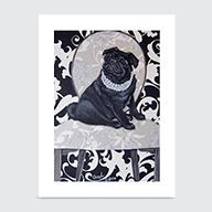 BW Pug - Art Print