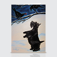 Scottie Crows - Greeting Cards