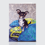 MinPin Chihuahua - Greeting Cards