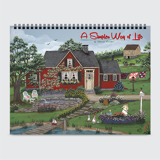A Simpler Way of Life by Sharon Ascherl - Calendar - Cover